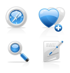 Site navigation icons vector
