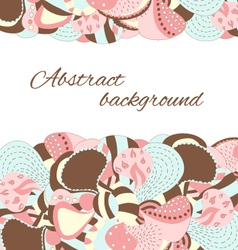 Hand draw abstract petal and flower background vector