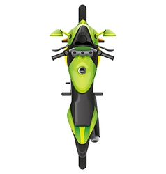 A topview of a motorcycle vector