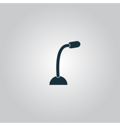 Computer microphone icon vector