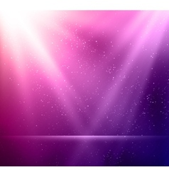 Abstract magic violet light background vector