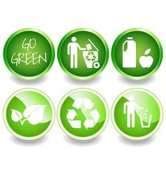 Green stickers set-2 vector