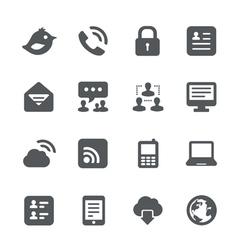 Internet communication icon set vector