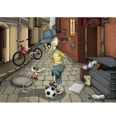 Street skeletons vector