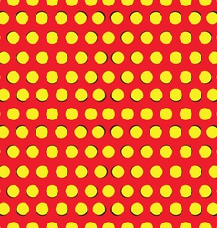 Seamless pattern with yellow circles vector