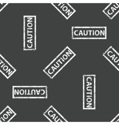 Rubber stamp caution pattern vector