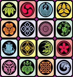 Japan design elements vector