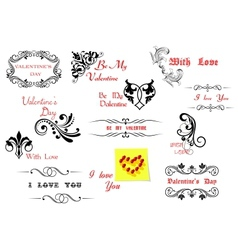 Valentines day holiday design elements vector