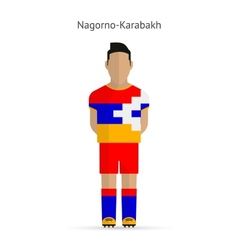 Nagorno-karabakh football player soccer uniform vector