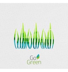 Green grass nature concept vector