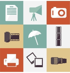 Icon set photographer vector