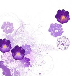 Stylized violet vector