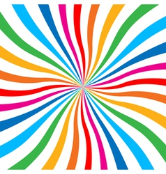 Colorful bright rainbow spiral background logo des vector