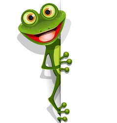 Jolly green frog vector
