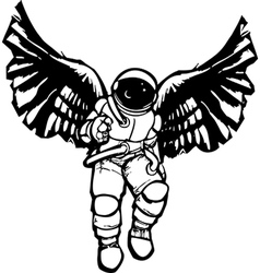 Astronaut angel vector