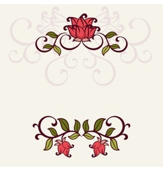 Flourish invitation card vector