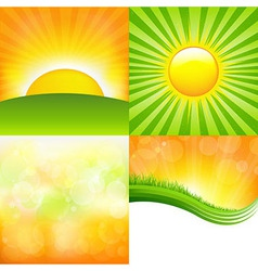 Sunrise set vector
