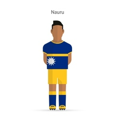 Nauru football player soccer uniform vector