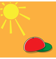 Sun and hat vector