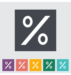 Icon percent sign vector