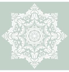 Orient ornamental round lace vector