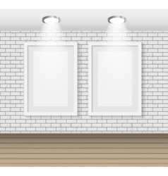 Frame on brick wall for your text and images vector