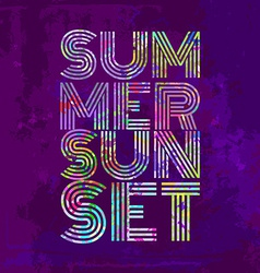 Endless summer - artwork for wear in custom colors vector