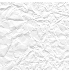 Background of white crumpled paper vector