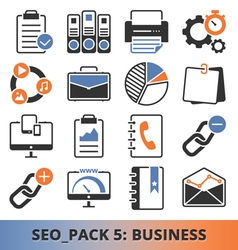 Seo business pack vector