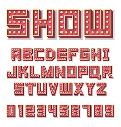 Alphabet with show lamps vector