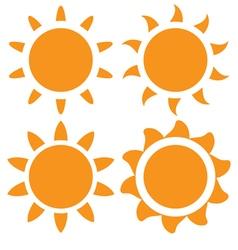 Set of orange sun vector