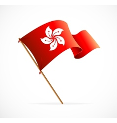 Flag of hong kong vector