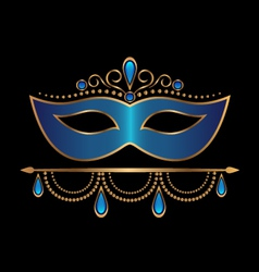 Blue mask with diadem vector