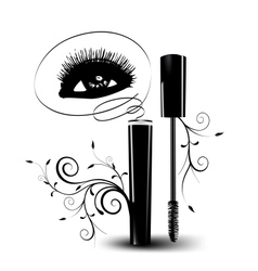 Ink for eyelashes with ornament vector