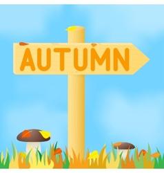 Sign with the inscription autumn vector
