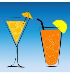 Drinks vector