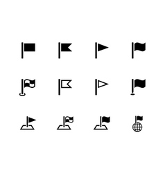 Flag icons for presentations on white background vector