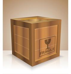 Fragile crate vector