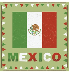 Mexico flag decoration vector