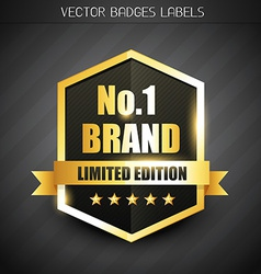 Original brand label vector