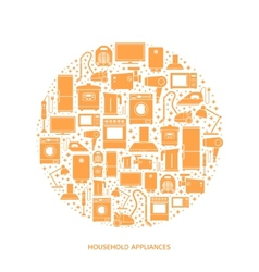 Household appliances flat icons vector