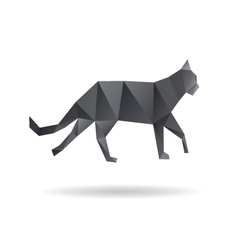 Black cat abstract isolated on a white backgrounds vector