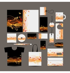 Corporate business style design folder bag label vector