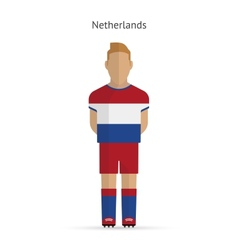 Netherlands football player soccer uniform vector