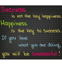 Success is not the key vector