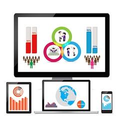 Web and seo analytics concept vector