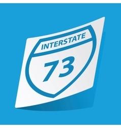 Interstate 73 sticker vector