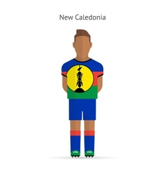 New caledonia football player soccer uniform vector