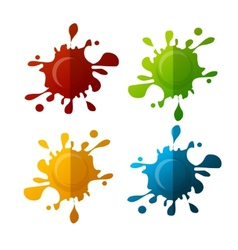Colorful blot set vector