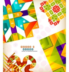 Abstract geometric retro shapes for backgrounds vector